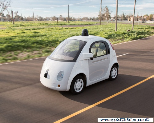Image of Self driving car by Google.