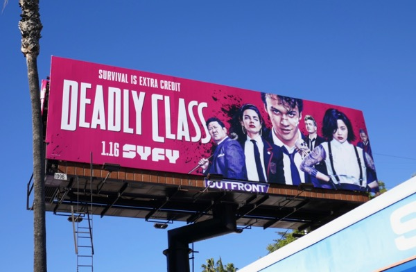 Deadly Class series premiere billboard