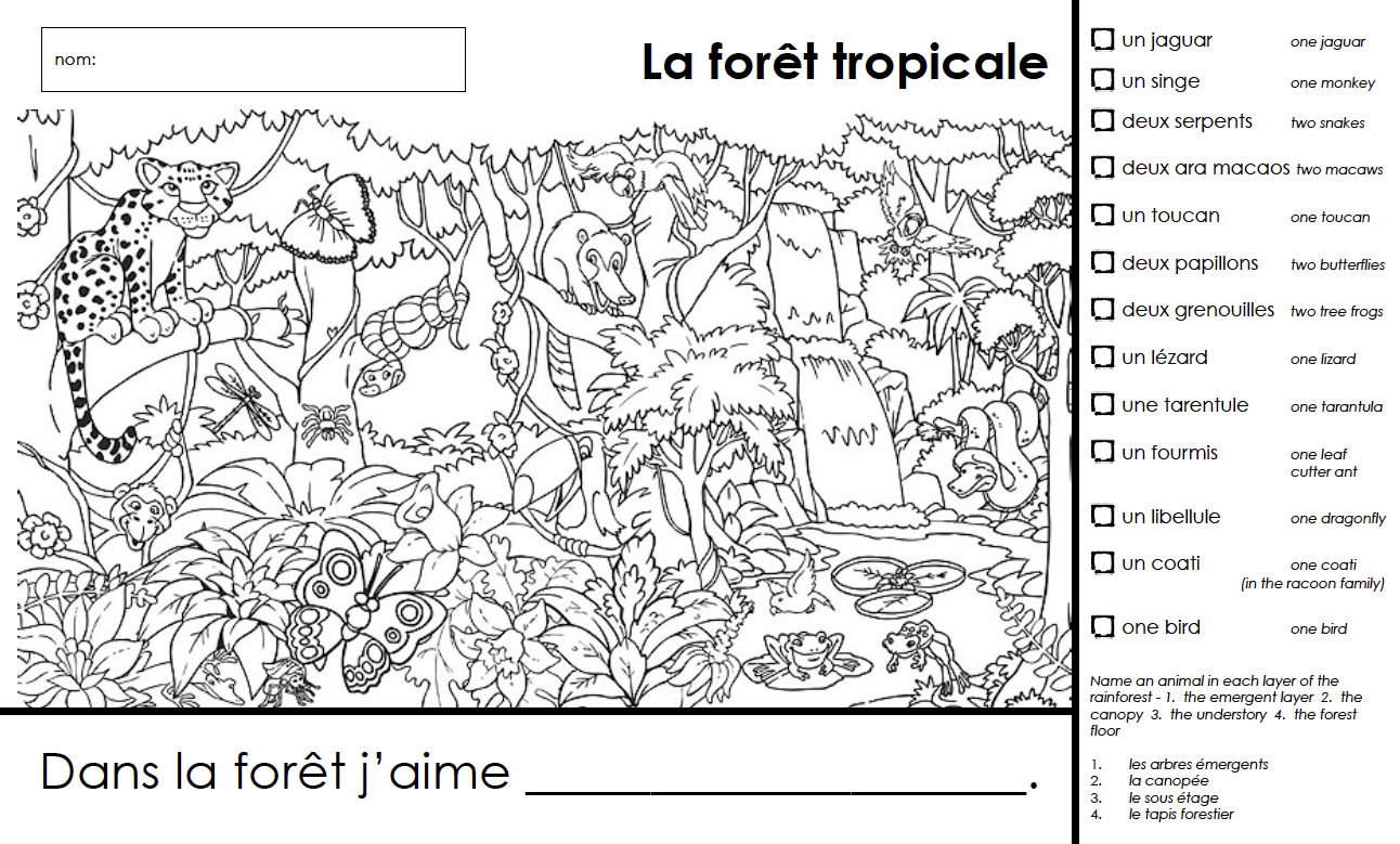 Madame Belle Feuille La Foret Tropicale