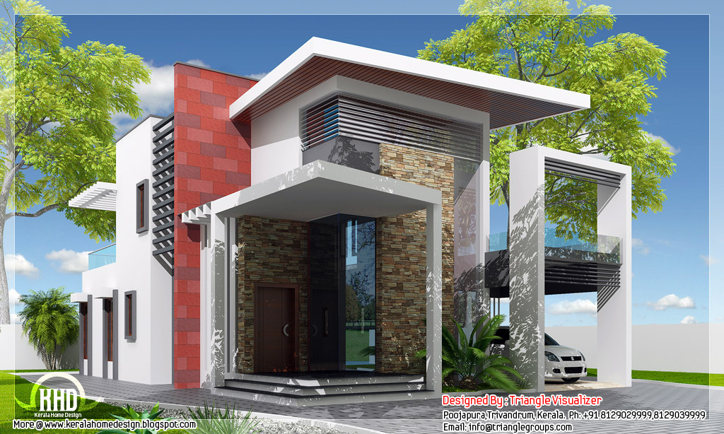 luxurious trendy house 2307 kerala home design ForTrendy House Plans