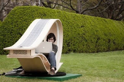 Admirable Loopy Rocket Solar Powered Lounge Chair For The Outdoors Alphanode Cool Chair Designs And Ideas Alphanodeonline