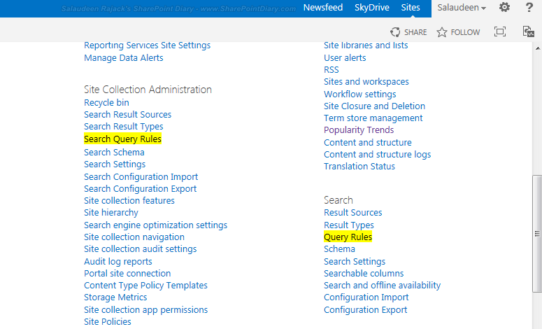 add best bets sharepoint 2013