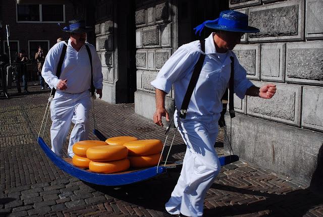marché au fromages d'Alkmaar