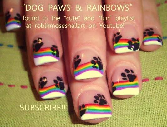 Nail Art By Robin Moses Rainbow Nails Rainbow Nail Art Nail