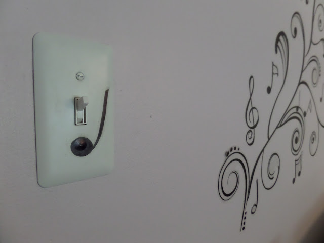 wall decals music note on light switch plate