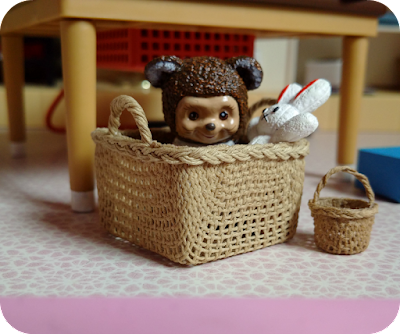bear in a basket