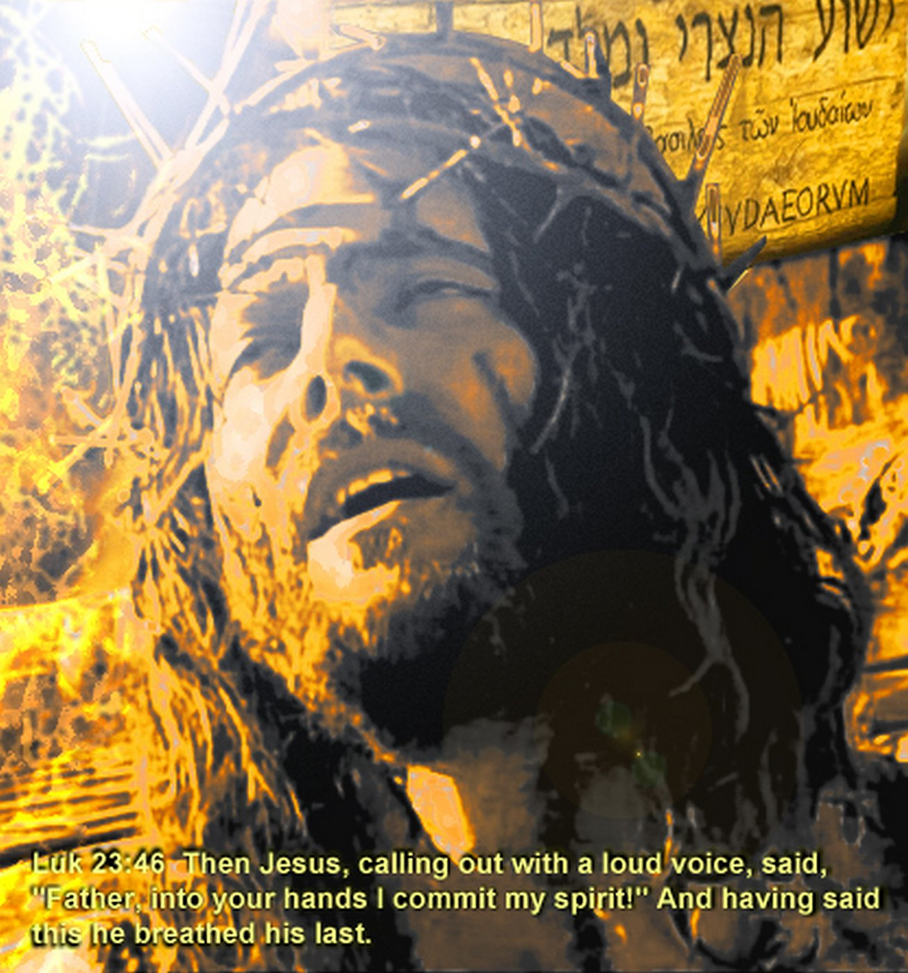 Then Jesus, calling out with a loud voice, said, 'Father, into your hands I commit my spirit!'
