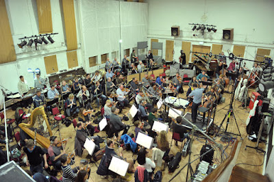 John Wilson and the John Wilson Orchestra recording at Abbey Road Studios