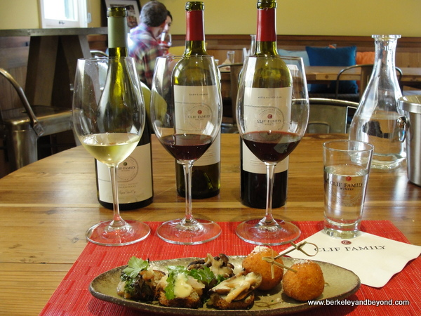 Bruschetteria Trio pairing at Clif Family Velo Vino Tasting Room in St. Helena, California
