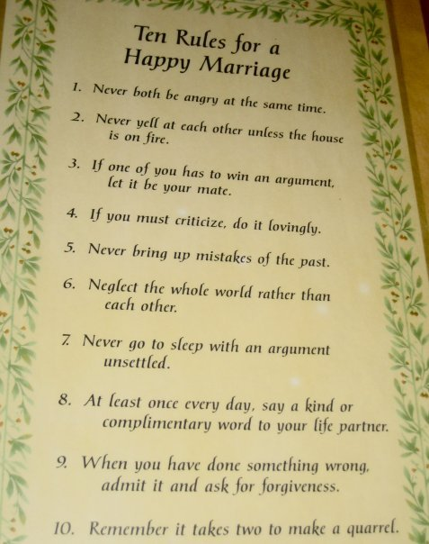 10 Kitchen And Home Decor Items Every 20 Something Needs: My Mails: 10 Rules For A Happy Marriage