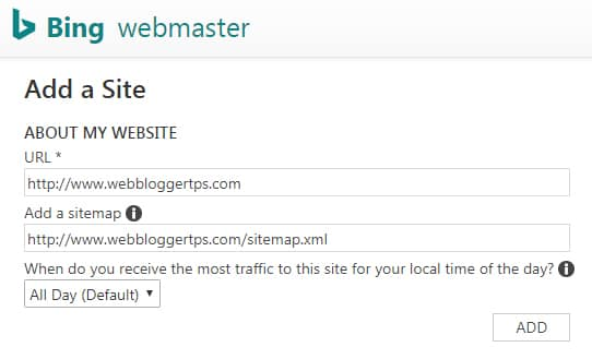 Sitemap kaise submit kare in bing webmaster tool