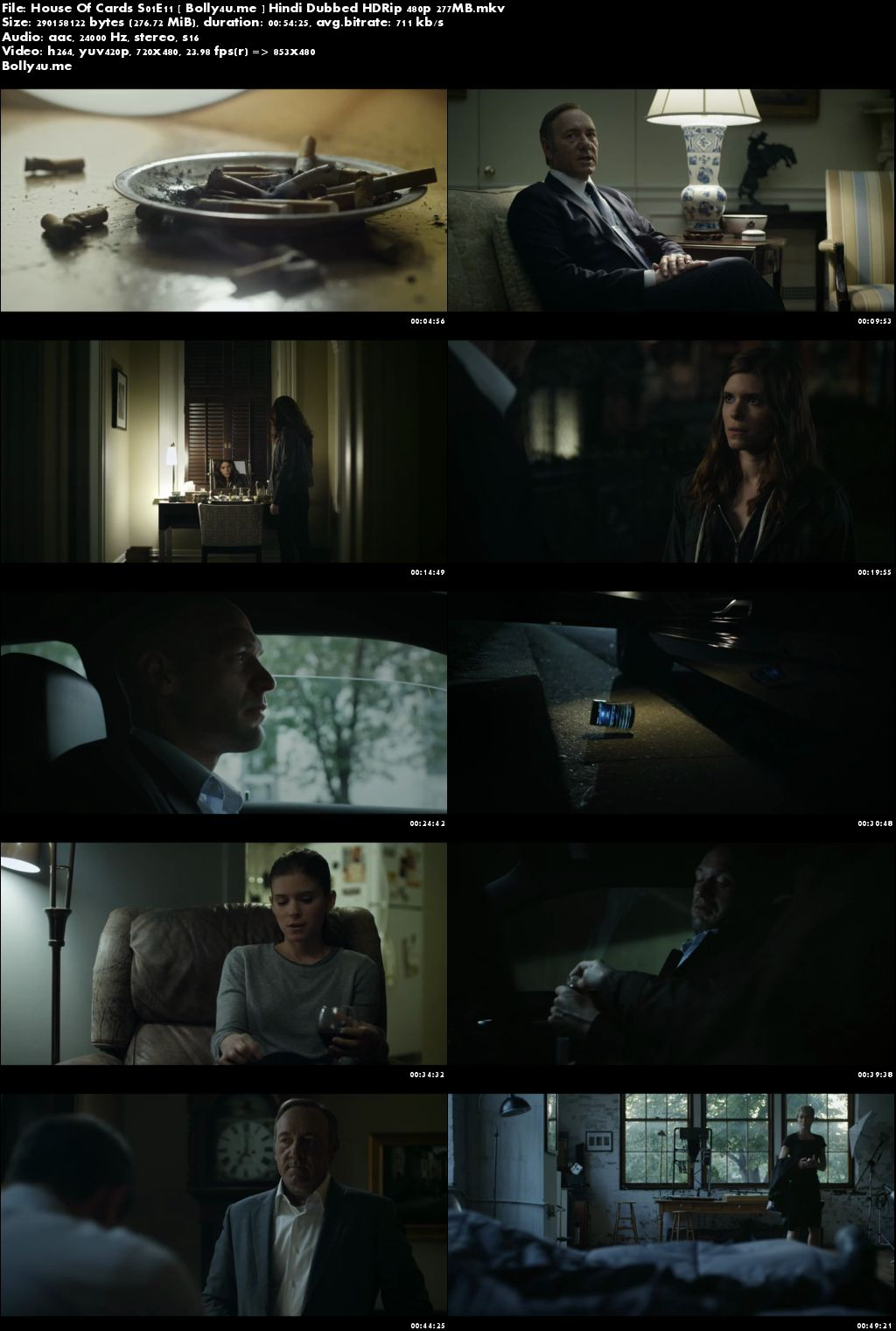 House Of Cards S01E11 HDRip 250MB Hindi Dubbed 480p Download
