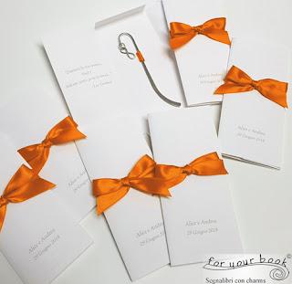 bomboniera matrimonio nozze segnalibro metallo ciondolo infinito