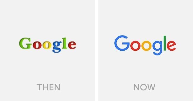 logo google dulu dan sekarang