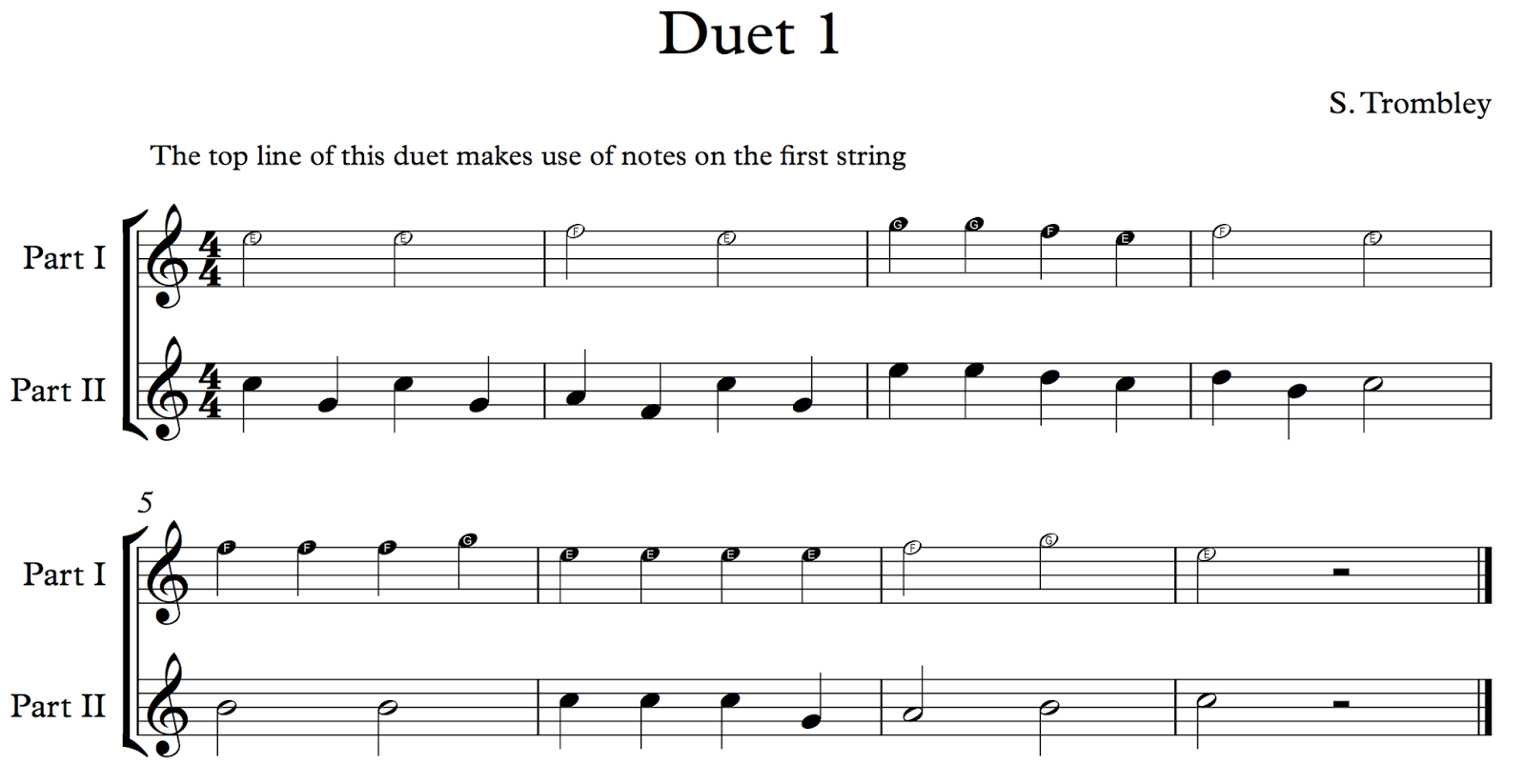 ghs guitar duet reading notes on the first string. Black Bedroom Furniture Sets. Home Design Ideas
