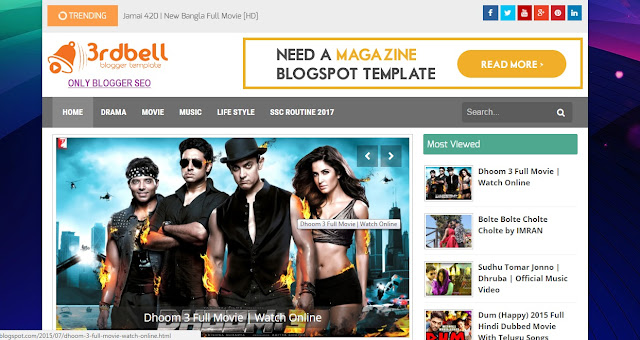 3rdbell Video Blogger Template free download