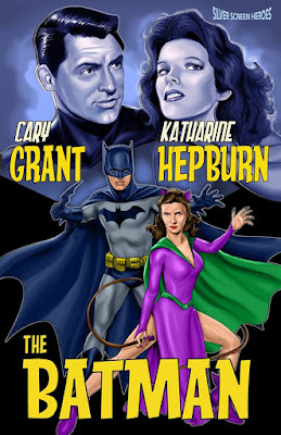 The Batman featuring Cary Grant as the Caped Crusader and Katharine Hepburn as Catwoman