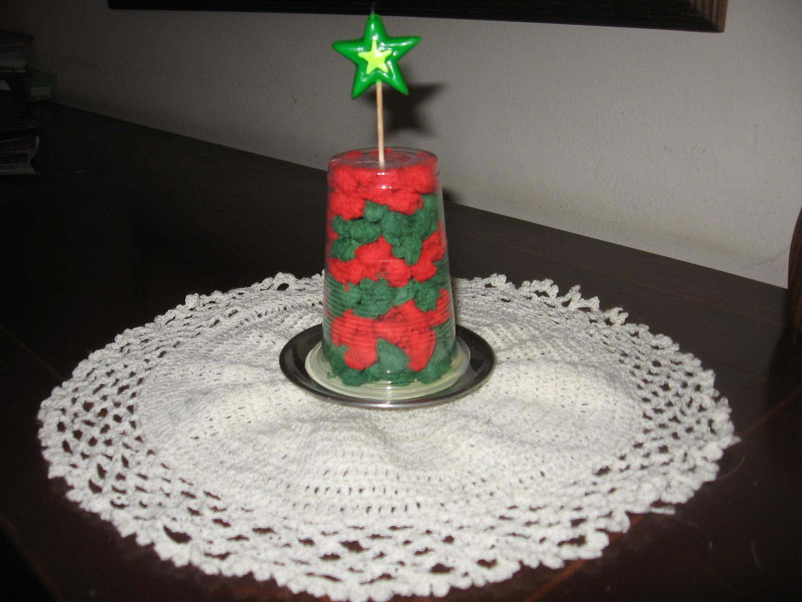 C mo hacer un arbolito de navidad reciclando un vaso de - Mesas para ninos de plastico ...