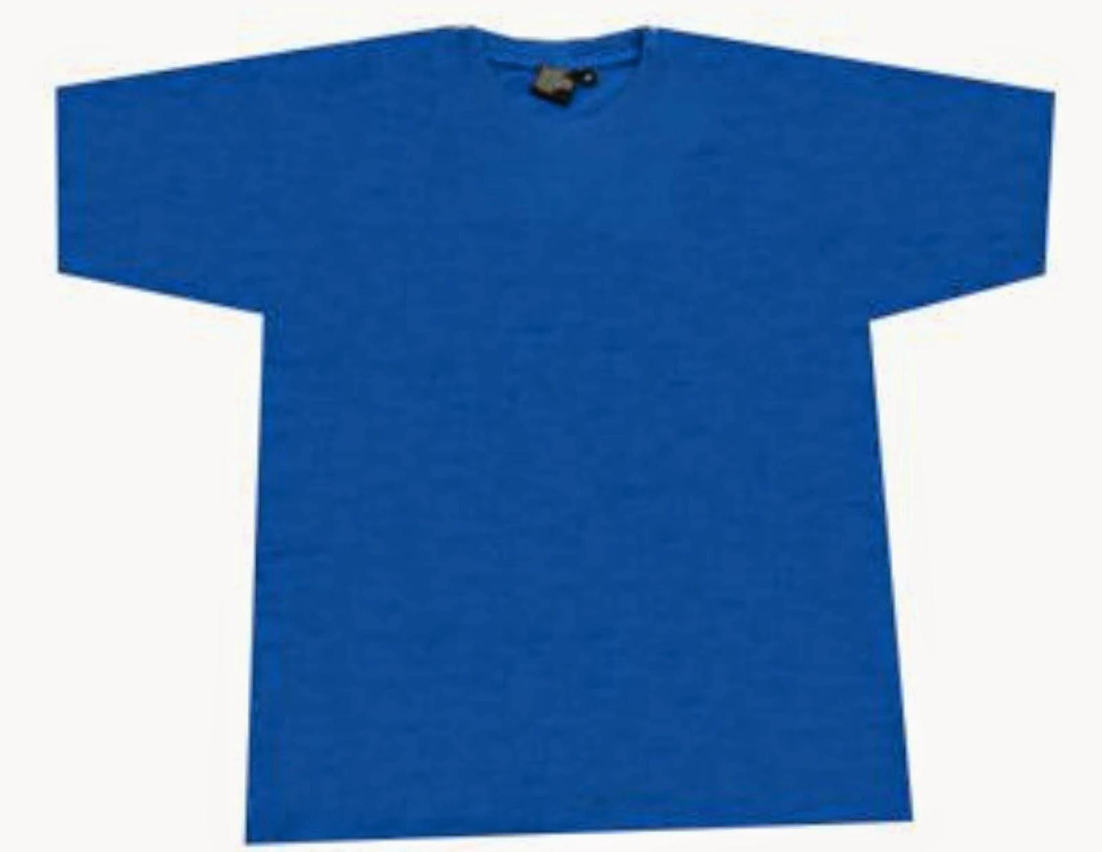 T Shirt Template Royal Blue