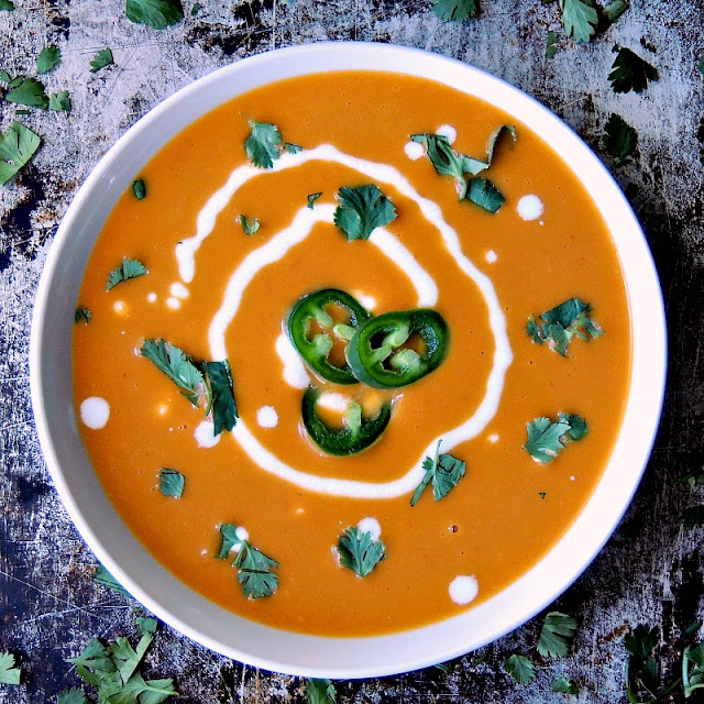 Quick Curried Squash Soup - The earthiness of butternut squash, paired with spicy curry paste, makes this soup the perfect meal for a cool fall or winter night from www.bobbiskozykitchen.com