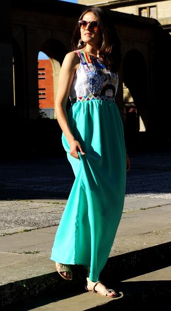 Verano y vestido largo