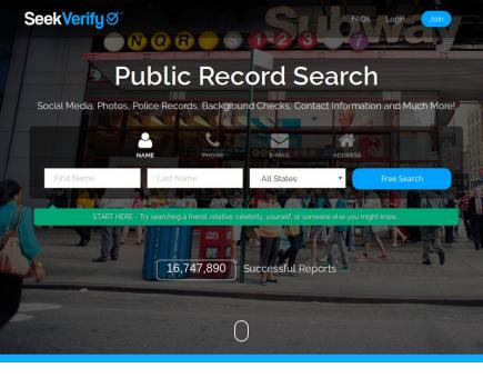 SeekVerify Public Record Search