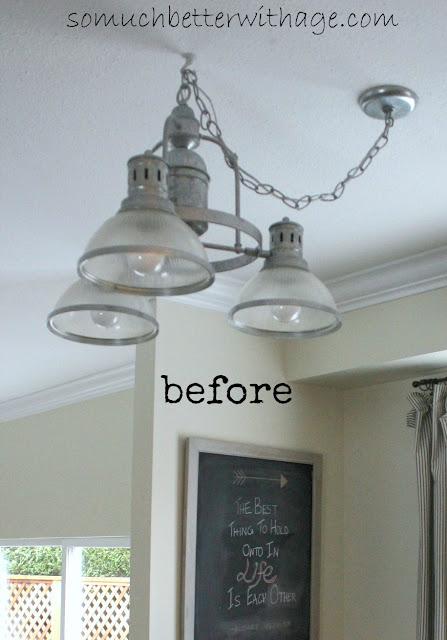 New kitchen light  www.somuchbetterwithage.com