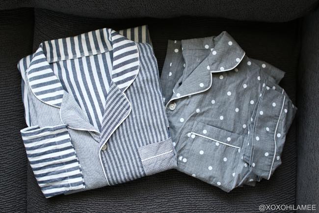 Japanese Fashion blogger,MizuhoK,GU-メンズ マルチストライプのパジャマ、ドット半袖パジャマ