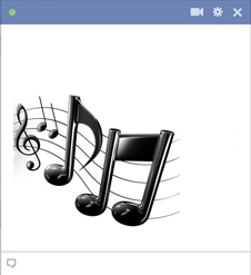 Emoticon Notas Musicais para Facebook
