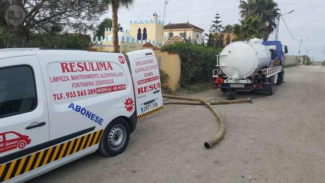 desatasco de fregaderos con camiones bomba en sevilla