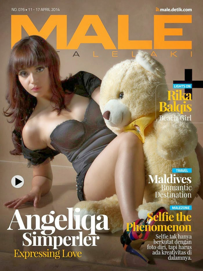 Foto Angeliqa Simperler di Cover Majalah Male April 2014