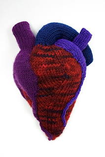 knitted heart, valentine's day ideas
