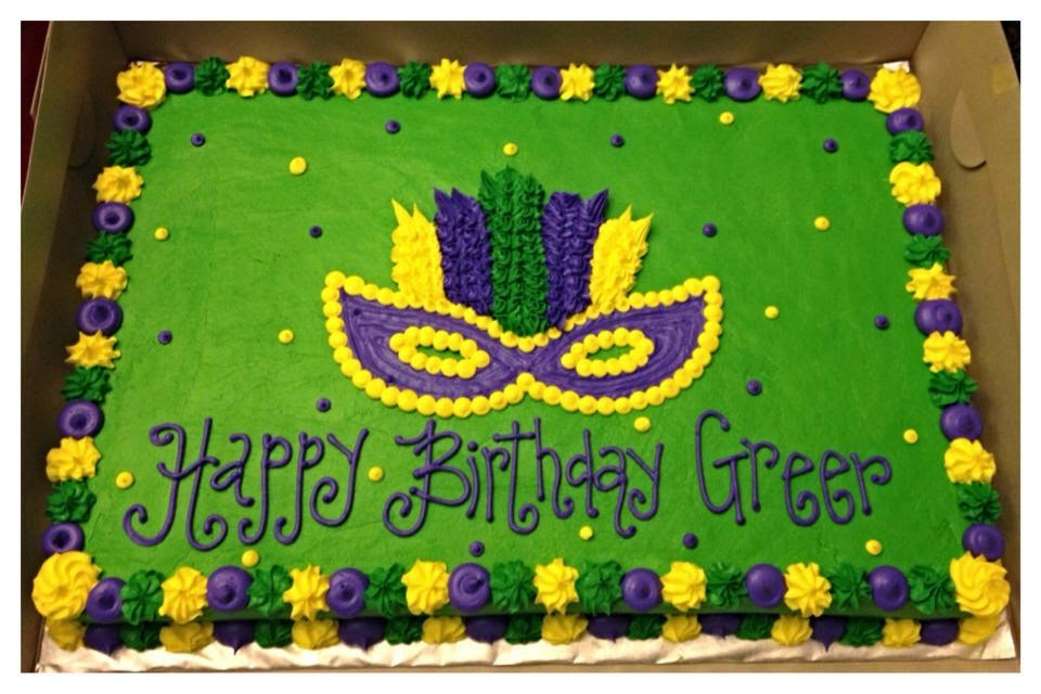 Mardi Gras Sheet Cake Cake Recipe