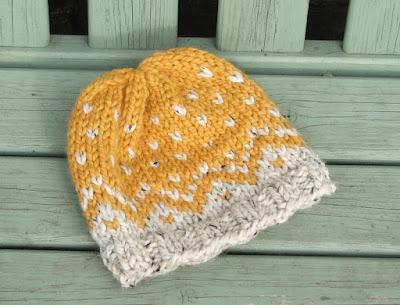 colourwork woolly hat