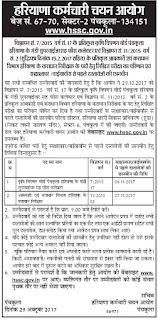 HSSC Mandi Supervisor Document verification 2017