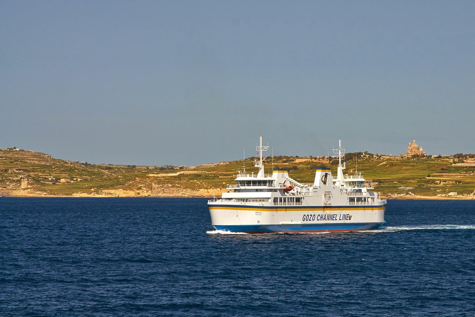 wyspa Gozo prom z Malty