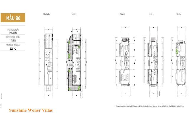 Mẫu thiết kế liền kề 146m2 dự án Sunshine Wonder Villas