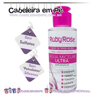 Água Micelar - Ruby Rose (Sem Sulfatos, Sem Petrolatos e Sem Silicones)