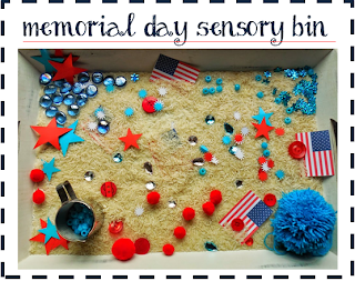 Memorial Day Activities: sensory play by Welcome to Mommyhood