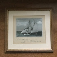 Schooner Bluenose signed by Angus Walters