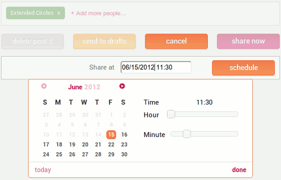 How To Schedule Updates on Google+