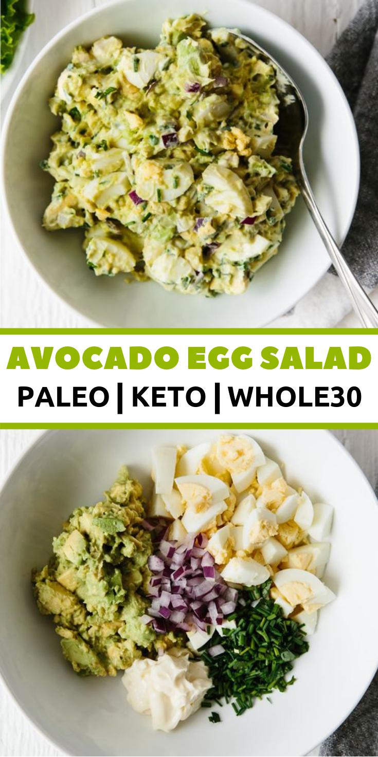 AVOCADO EGG SALAD #ketorecipes #whole30recipes