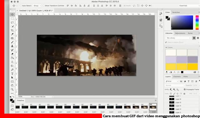 Cara membuat GIF dari video menggunakan photoshop