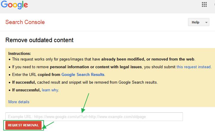 구글 검색결과에서 서브도메인 또는 웹페이지 삭제 요청하는 방법 - 구글 웹마스터 도구 (서치 콘솔) 사용법