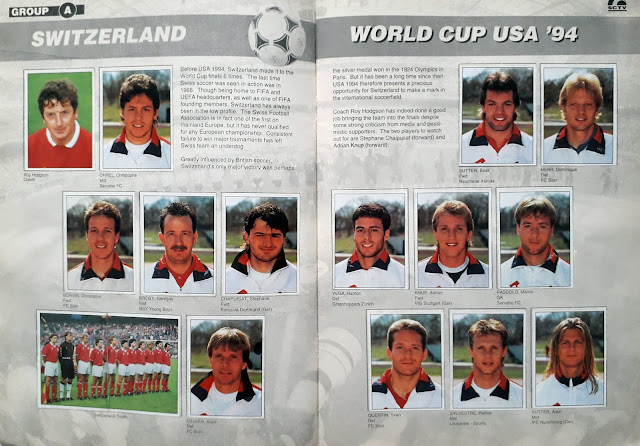 WORLD CUP USA '94 STICKER ALBUM COLLECTION GROUP A SWITZERLAND