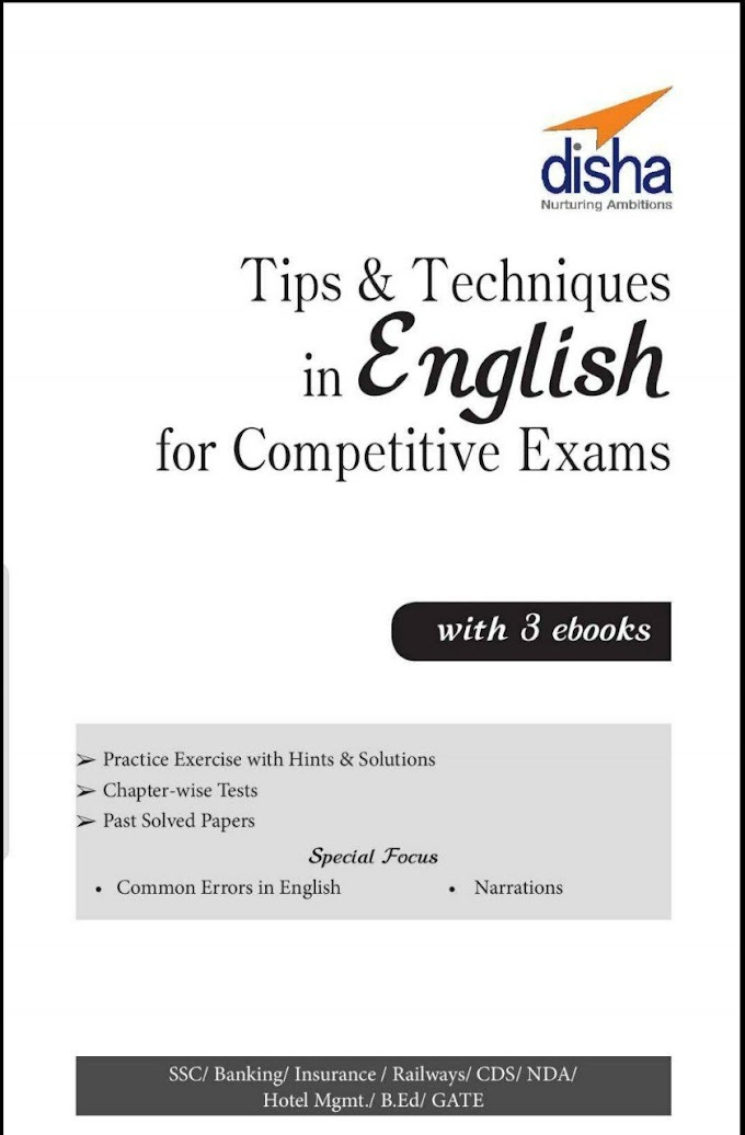 Tips & Techniques in English for Competitive Exams eBook PDF Download