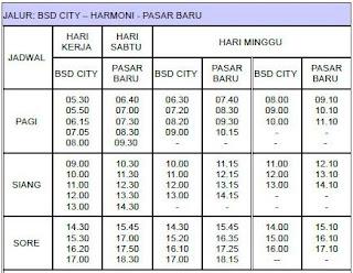Rute, Tarif dan Jadwal Trans BSC City – Harmoni – Pasar Baru