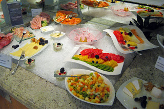 Breakfast buffet in the Club Lounge, Sheraton Airport Hotel and Conference Center, Frankfurt, Germany