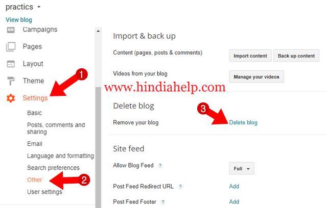 Blogger Blog को  Permanently Delete या Undelete कैसे करे