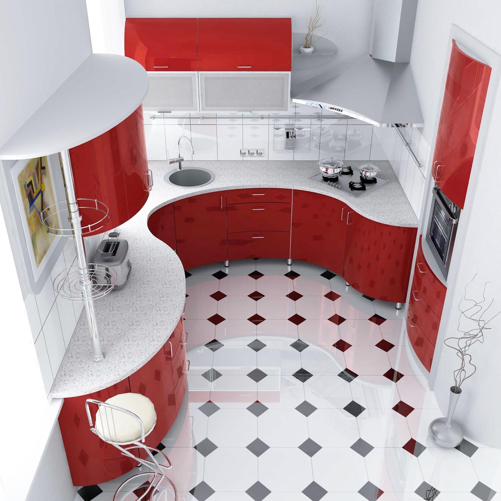 Best 55 Modular Red Kitchen Designs, Cabinets, Walls